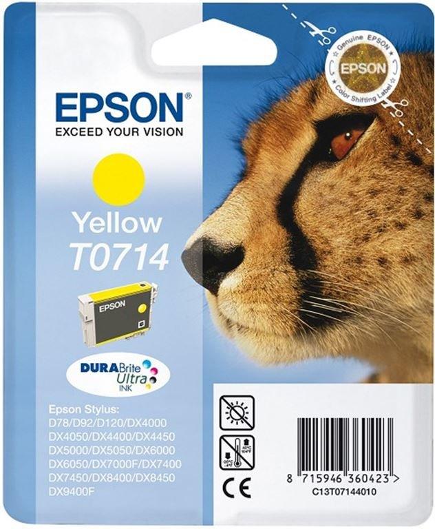 Epson Ink/T0714 Cheetah 5.5ml YL (gelb)