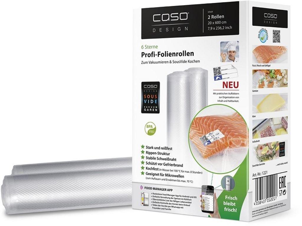 CASO Folienrolle 20x600 - 2Stk. 1221