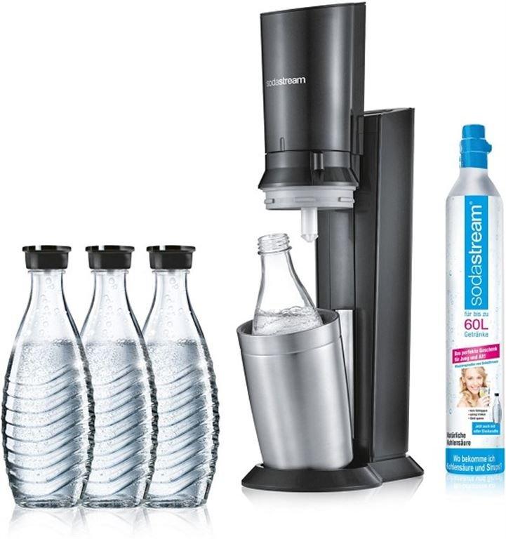 SodaStream Crystal 2.0 Aktionspack 3 Karaffen (titan) 1216513490