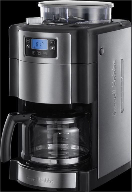 Russell Hobbs Buckingham Grind&Brew Glas-Kaffeem. (edelstahl/schwarz) 20060-56