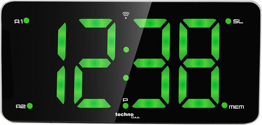 Technoline WT 486 Funkuhr Radiowecker (schwarz/ silber)